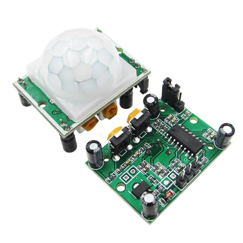 100 STKS HC SR501 HCSR501 Pas IR Pyro elektrische Infrarood PIR module Motion Sensor Detector Module-in Vervangende onderdelen en toebehoren van Consumentenelektronica op  Groep 1