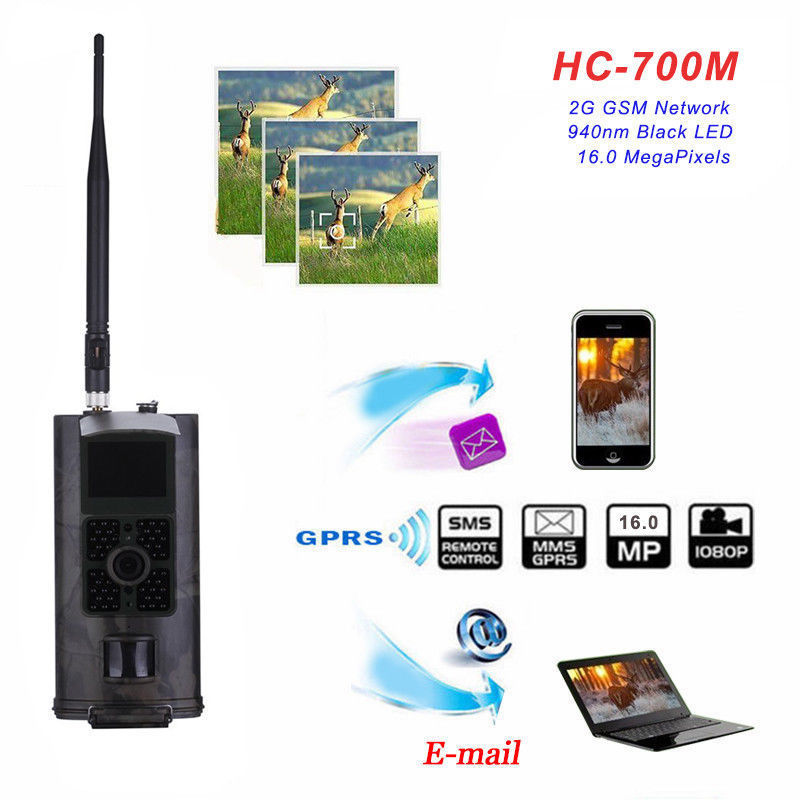 Camera Traps Photo HC700M 2G Trail Wild Hunting Camera 16MP GSM MMS GPRS Infrared Night Vision Hunting Video Camcorder 1080P