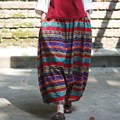Bohemian style Print Loose Casual Women Baggy Pants Elastic waist Novelty Plus size Pants Skirt Vintage Hip hop Trousers A051