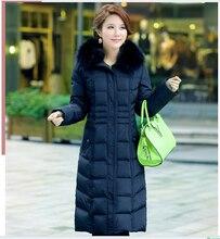 Korean New Fashion Women Winter Coat Big yards Thick Warm Fur collar Duck down Down jacket Elegant Women Slim Leisure Coat G2293