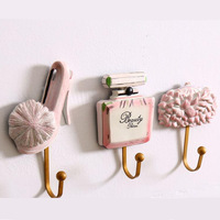 Europe creative resin hook magnetic wall key holder key hanger wall coat hook creative wall hooks decorative