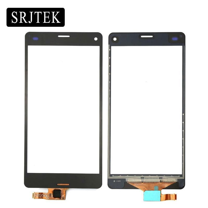 4.6 For Sony Xperia Z3 Compact Z3 Mini D5803 D5833 Touch Screen Digitizer Sensor Outer Glass Lens Panel+Tracking With 3M Tape