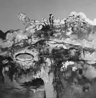 Акрил ручная роспись китайский художник Ян Цзэминь работы держать смотреть на белой лошади хребет 150X150 см настенные картины искусство