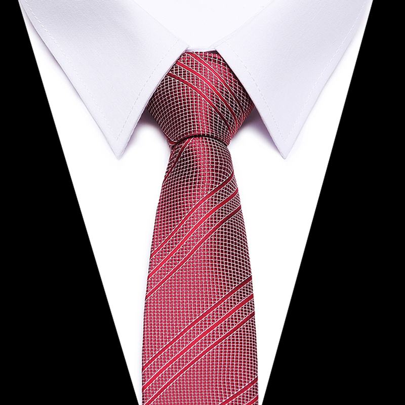 Joy alice Necktie Striped Soft Mens Tie New Fashion high grade Tie For Men Formal 8cm Width Cravat Gravatas wine red ties