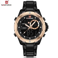 NAVIFORCE Top Luxury Brand Men S Quartz Watch Steel Business Watches Men LED Digital Clock Male