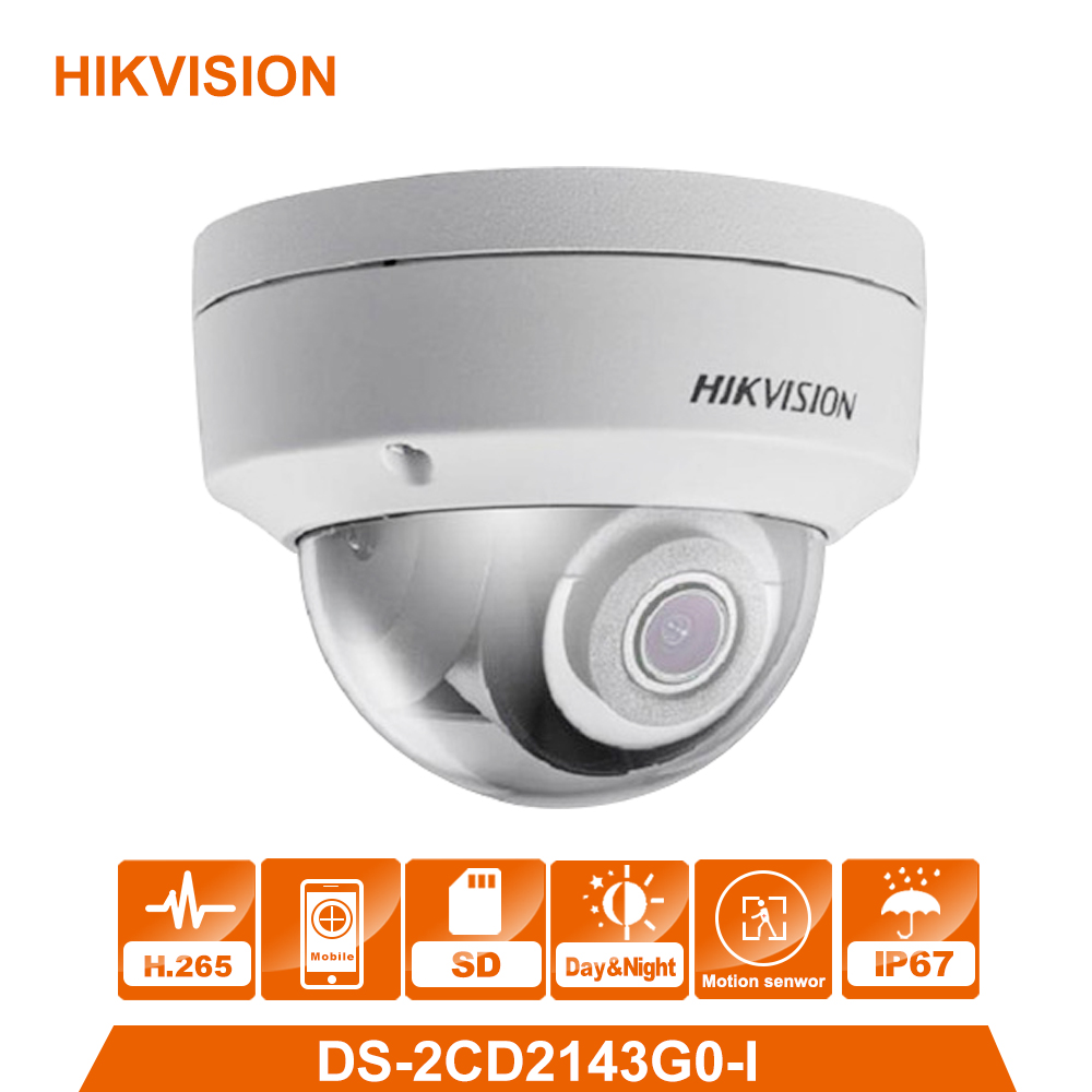 HIKVISION Original DS-2CD2143G0-I 4MP Network Dome Camera Security System upgrade DS-2CD2142FWD-I indoor monitor hik ds 2cd2142fwd iws 4mp wdr fixed dome wifi network camera 120db wide dynamic range with aduio