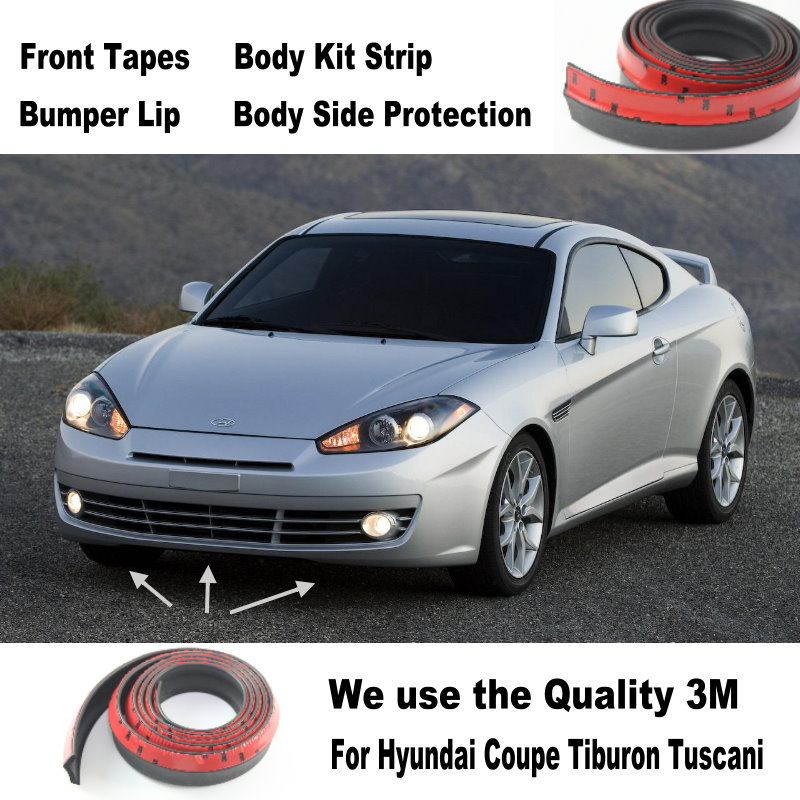 car bumper lips for hyundai coupe tiburon tuscani car tuning body kit strip front tapes. Black Bedroom Furniture Sets. Home Design Ideas