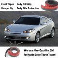 Car Bumper Lips For Hyundai Coupe Tiburon Tuscani / Car Tuning / Body Kit Strip / Front Tapes / Body Chassis Side Protection