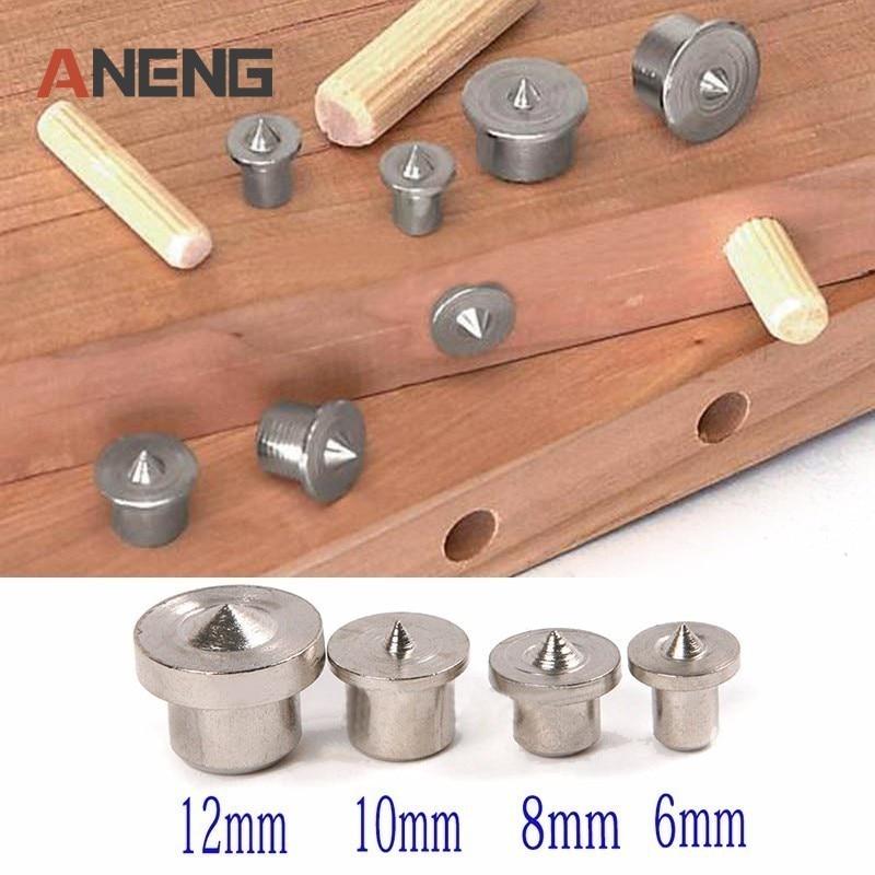 8 pçs sólido pinos passador centro ponto conjunto carpintaria passador tenon centro conjunto 6/8/10/12mm para acessórios de energia ferramenta para trabalhar madeira