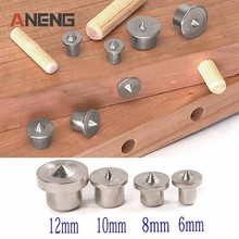 8pcs Solid Dowel Pins Center Point Set 6/8/10/12mm Woodworking Tenon For Tool Power Accessories