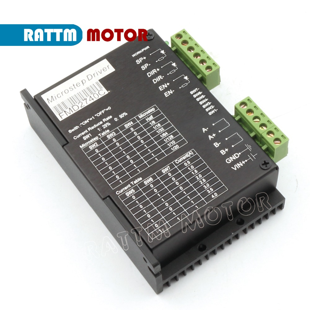 Buy fmd2740c 50vdc 4a 128 microstep for Cnc stepper motor controller