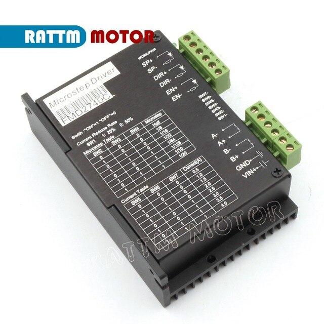 FMD2740C  50VDC /4A / 128 microstep CNC stepper motor driver for Nema17,23 stepper motor cnc router milling  from RATTM MOTOR