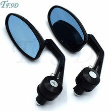 7/8 Handlebar End motorbike Mirrors Oval Classic Side moto Racer ATV Motorcycle  Rearview For Suzuki GSXR750