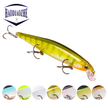 Купить с кэшбэком 1PCS Minnow Fishing Lures 11cm 13g Laser Hard Artificial Bait 3D Eyes Fishing Wobblers Crankbait Plastic Baits Crank Baits Pesca