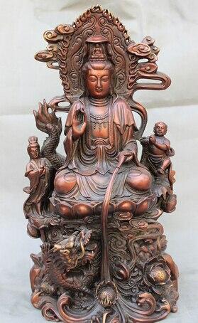shitou 003272 18 Chinese Pure Red Bronze Dragon Kid Lotus Pot Kwan-yin GuanYin Buddha Statueshitou 003272 18 Chinese Pure Red Bronze Dragon Kid Lotus Pot Kwan-yin GuanYin Buddha Statue