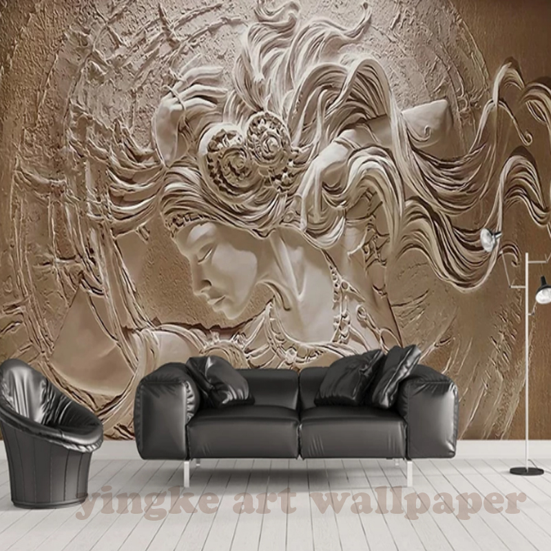 Large Photo <font><b>Wallpaper</b></font> <font><b>3d</b></font> stereo relief fashion <font><b>Wallpapers</b></font> for Walls Art Decor mural <font><b>3D</b></font> Wall Mural <font><b>Sex</b></font> Girl decorative picture image