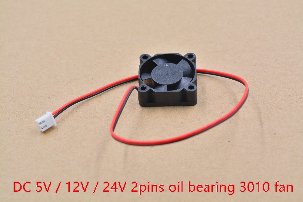 3d printer part <font><b>fan</b></font> 3010 2pins <font><b>30mm</b></font> 30x30 x10 mm 3cm graphics card <font><b>fan</b></font> DC <font><b>5V</b></font> / 12V / 24V 3010 2P 1pcs image