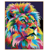 PHKV Animal Color Lion DIY Painting By Numbers Wall Art DIY Digital Coloring Canvas Oil Painting