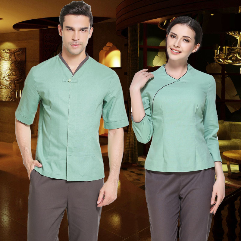Beauty preservation longevity club uniform men and women for Spa uniform amazon
