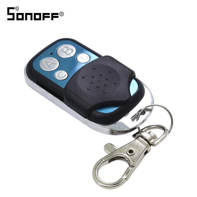 SONOFF 433 mhz מרחוק בקר Wifi 4 ערוצים אלחוטי 433 בקרת ABCD 4 כפתורי מתג חכם מפתח Fob עבור Slampher t1 4CH RF