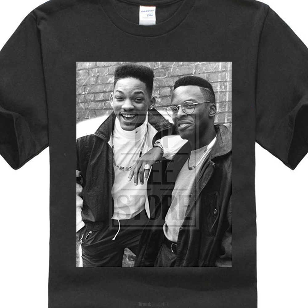 2017 newest Printed Tee Dj Jazzy Jeff And Will Smith Fresh Prince Photo Design MenS Custom Shirts T Shirt
