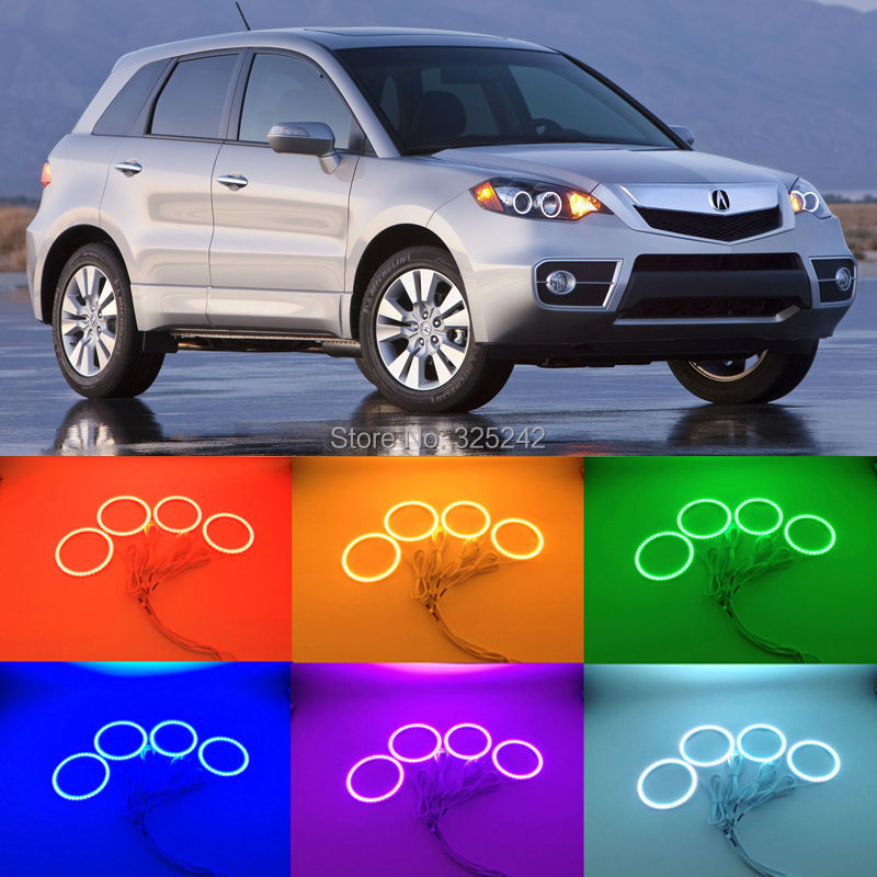 For ACURA RDX 2007 2008 2009 2010 2011 2012 Excellent Multi-Color Ultra bright RGB LED Angel Eyes kit for lifan 620 solano 2008 2009 2010 2012 2013 2014 excellent angel eyes multi color ultra bright rgb led angel eyes kit
