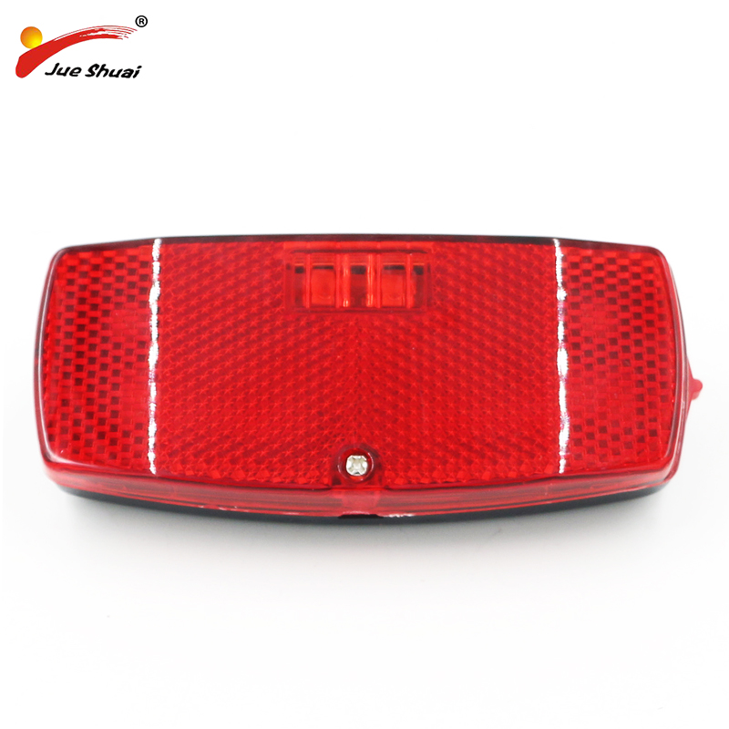 JS Leds Bike Rear Light Rear Rack Light Lamp Battery for MTB Cycling Safe Warning Bicycle Taillight Flashlight bisiklet aksesuar