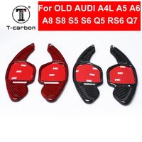 Car styling Real Carbon Fiber Steering Wheel Shift Paddles Wheel Paddle Extension for Old Audi A4L A5 A6L A8 S5 S6 S8 RS6 Q5 Q7