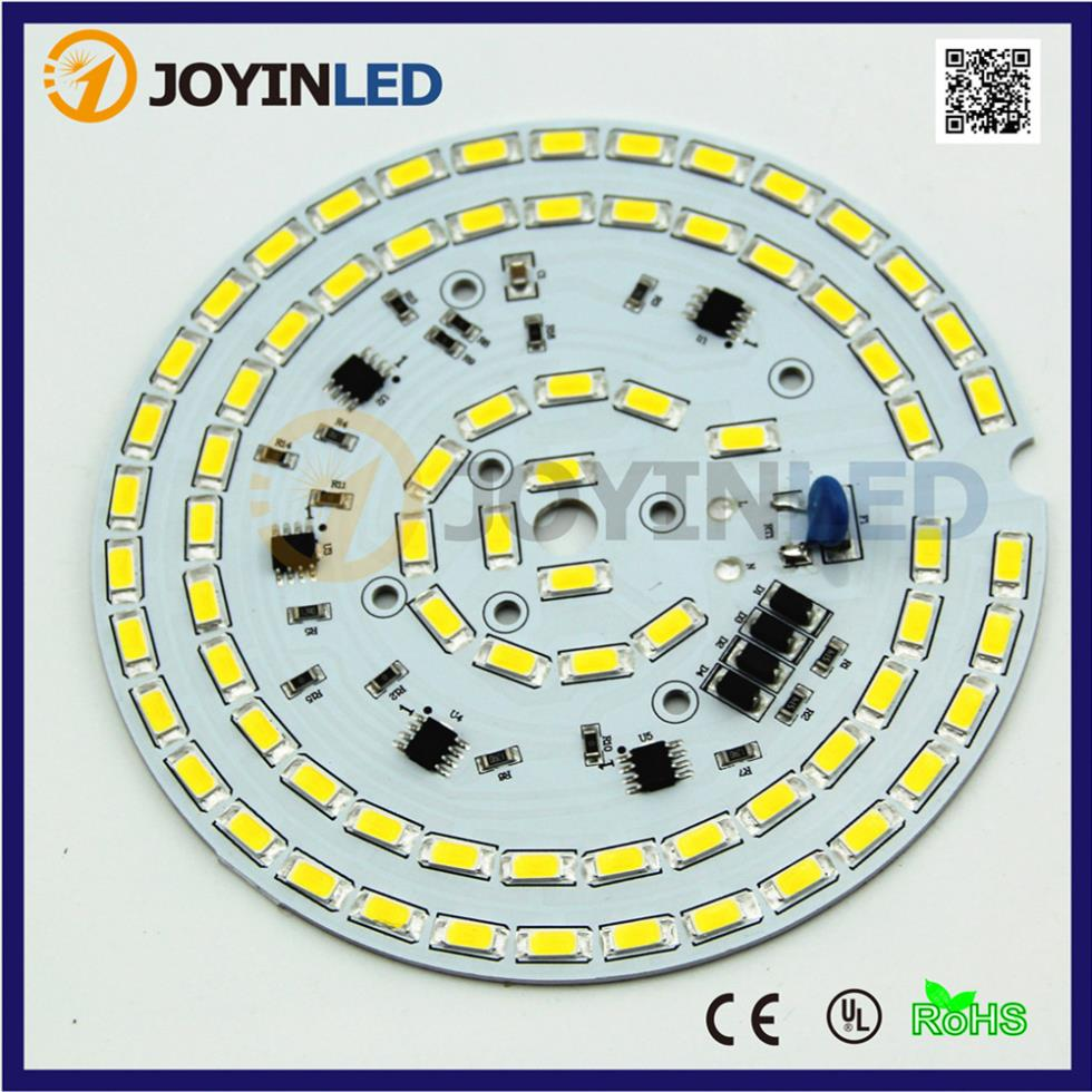 5PCS LED bulb lamp AC Module Chips Dimmable high bay light 30W AC110V integrated Driver 5730 led PCB 20pcs 12w led light panel smd 5730 ic driver pcb input voltage ac110v 130v needn t driver aluminum plate free shippping
