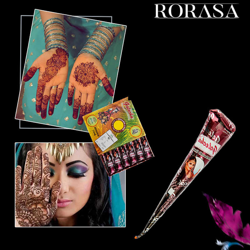 1pc Microblading Pigment Body Art Paint High Quality Mini Natural Indian Tattoo Henna Paste For Body Drawing Black Henna Tattoo Aliexpress