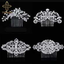 TREAZY European Designs Floral Wedding Hair Accessories Simu