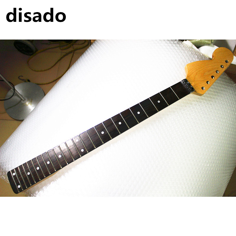 disado 24 Frets big reverse headstock maple Electric Guitar Neck rosewood fretboard inlay dots glossy paint guitar accessories disado 21 22 frets maple electric guitar neck rosewood scallop fretboard inlay dots glossy paint guitar parts accessories