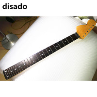 disado 24 Frets big reverse headstock maple Electric Guitar Neck rosewood fretboard inlay dots glossy paint guitar accessories