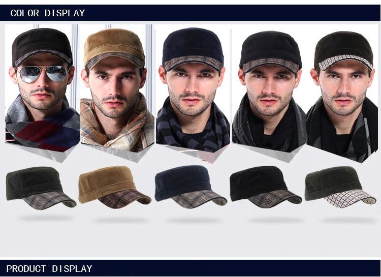 VOBOOM Navy hombres sombrero militar del verano primavera otoño algodón  lavado ejército Cap capitán ajustable sombreros 60ad2d03e39
