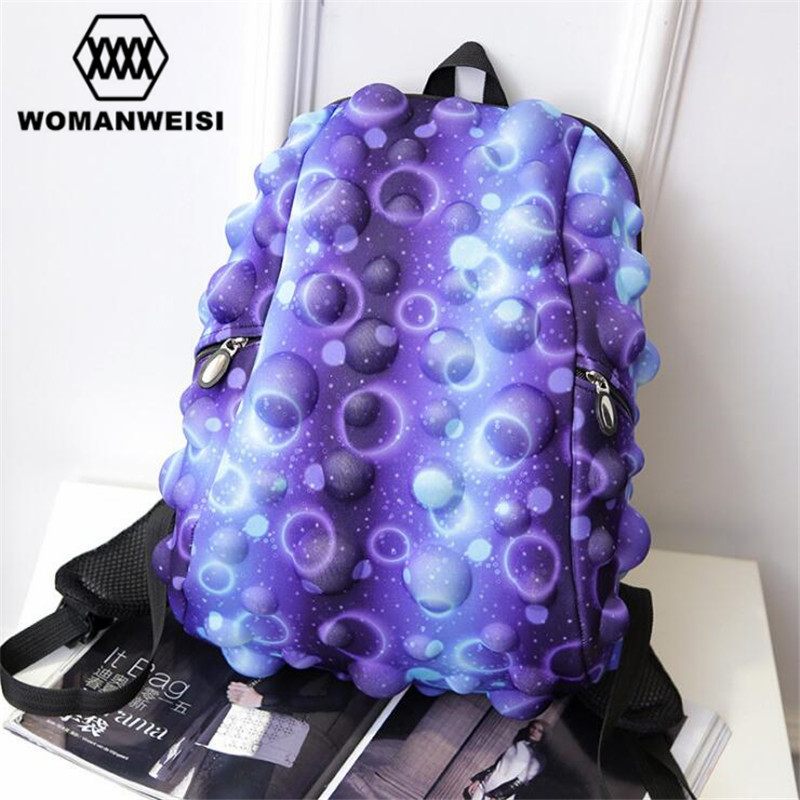 2017 Luxury Harajuku Colorful Galaxy Women Men Backpack Female Teenage Girl School Bag Cool Schoolbag Male Boys Bagpack Mochila