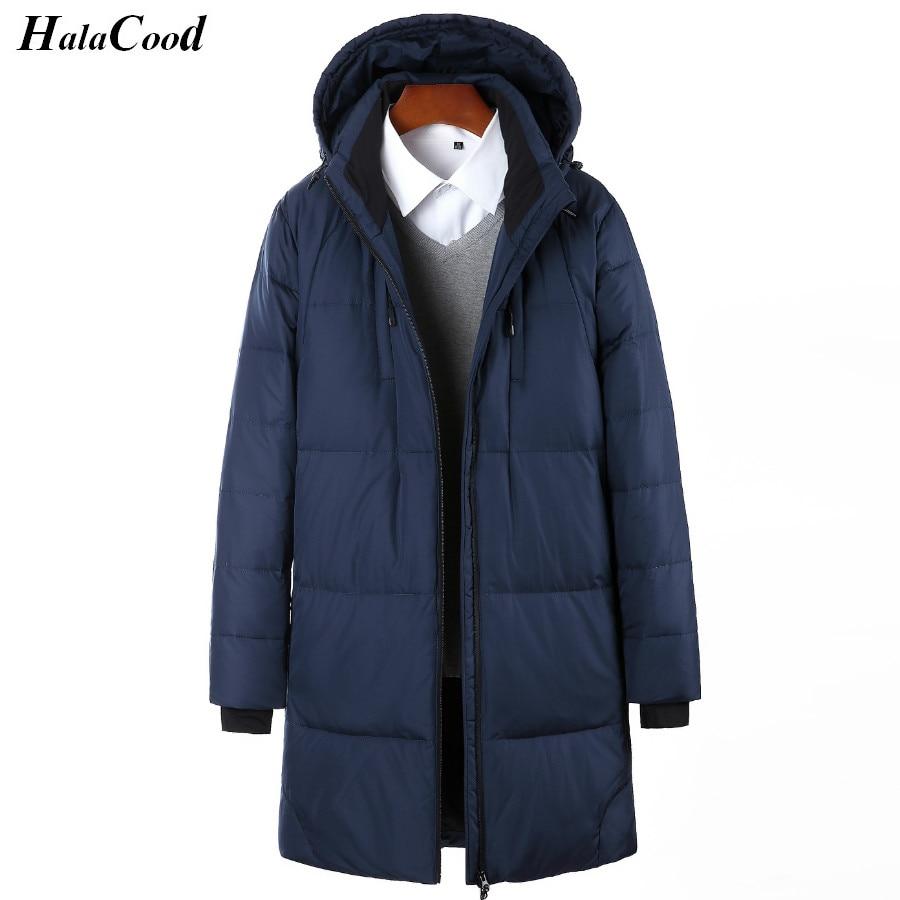 High Qualit White Duck Down Long Jacket Men Thicken Warm Varsity Jacket Autumn Winter Windbreak Parka Slim Casual Outwear Coat