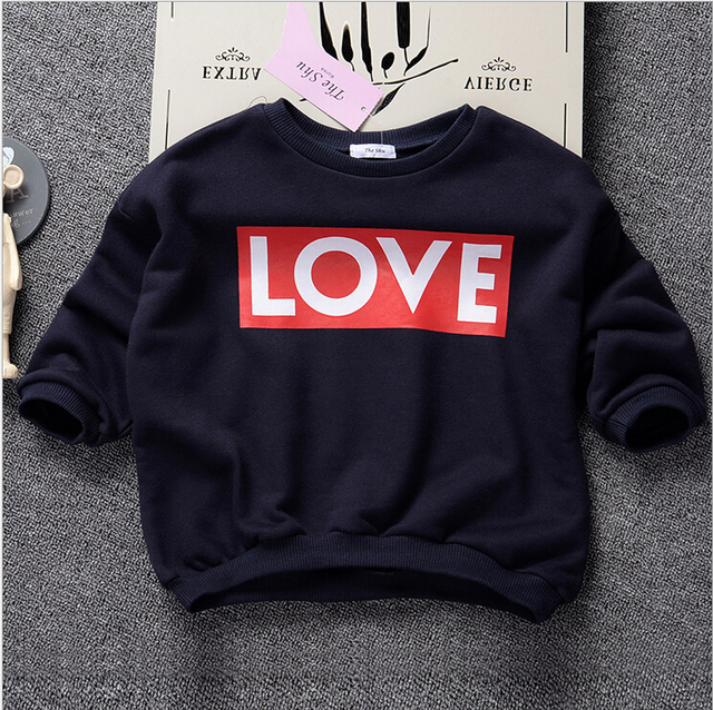 312848 Wholesale 2015 Autumn Kids Tops Print Letters Children Clothes