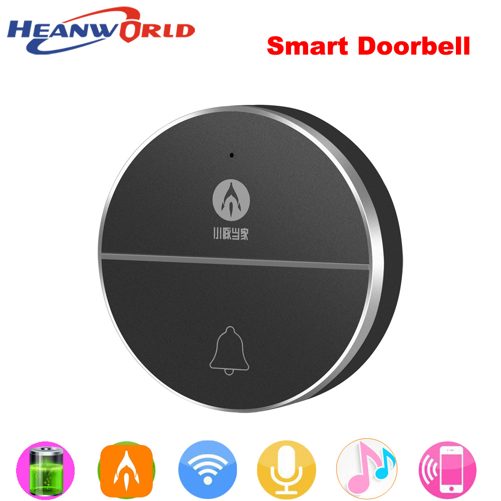 Heanworld Mini Wireless Doorbell with two way audio wifi smart door bell support battery with music ring bell songs home remote кольцо megan jewelry