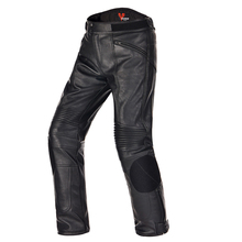 DUHAN Motorcycle motocross  racing Protective Trousers windproof Waterproof warm PU Imitation Leather riding Sports Pants