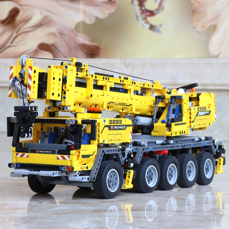 DHL 20004 Technic Motor Power Mobile Crane Mk II Model Building Kits Blocks Bricks Birthday Compatible with Legoings 42009 Toys 16