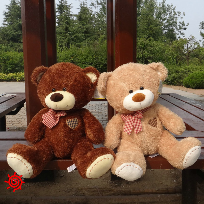 1pc 23/40cm Love Bear Plush Toy Teddy Bears Two Colors Stuffed Soft Animal Toys Cute Kids Doll Birthday Gift