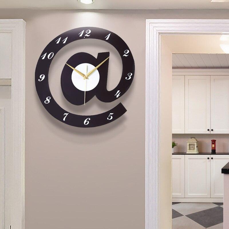 Nordic Style Creative Wooden Wall Clock, Clockwork, Living Room, Large Wall Decoration, Quartz Clock Modern Home Decoration
