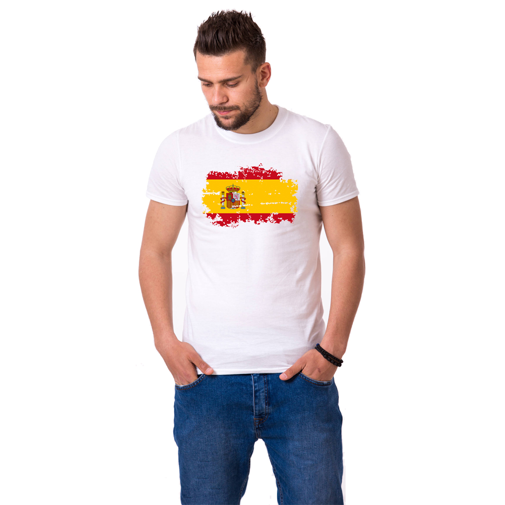 Spanien National Flag T-shirts til mænd Fashion Short Sleeve - Herretøj - Foto 2
