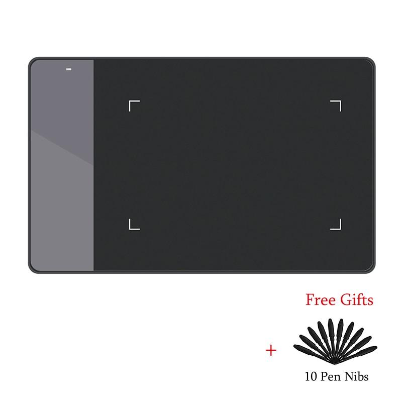 HUION 420 Digital Desenho Gráfico Tablet (Perfeito para osu) tablet Caneta Pressão Pad Assinatura com Dez Caneta Nibs em Preto e Branco