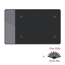 لوح رسم الرسومات الرقمية هويون 420 (مثالي لـ osu) لوح توقيع ضغط القلم اللوحي مع عشرة محاريب قلم أبيض وأسود