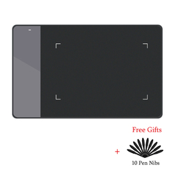 HUION 420 الرقمية الرسومات لوح رسم (مثالية ل osu) اللوحي ضغط القلم توقيع سادة مع عشرة المناقير القلم الأسود والأبيض