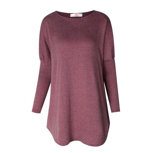 Sweater Tops Women 2017 Autumn Winter Long Sleeve Plus Size Pullovers  Elegant Women  Loose Female Sweater Clothing WS1401Y
