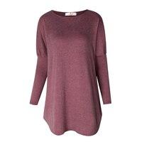 Pullover Tops Frauen 2017 Herbst Winter Langarm Plus Größe Pullover Elegante Frauen Lose Weibliche Pullover Kleidung WS1401Y