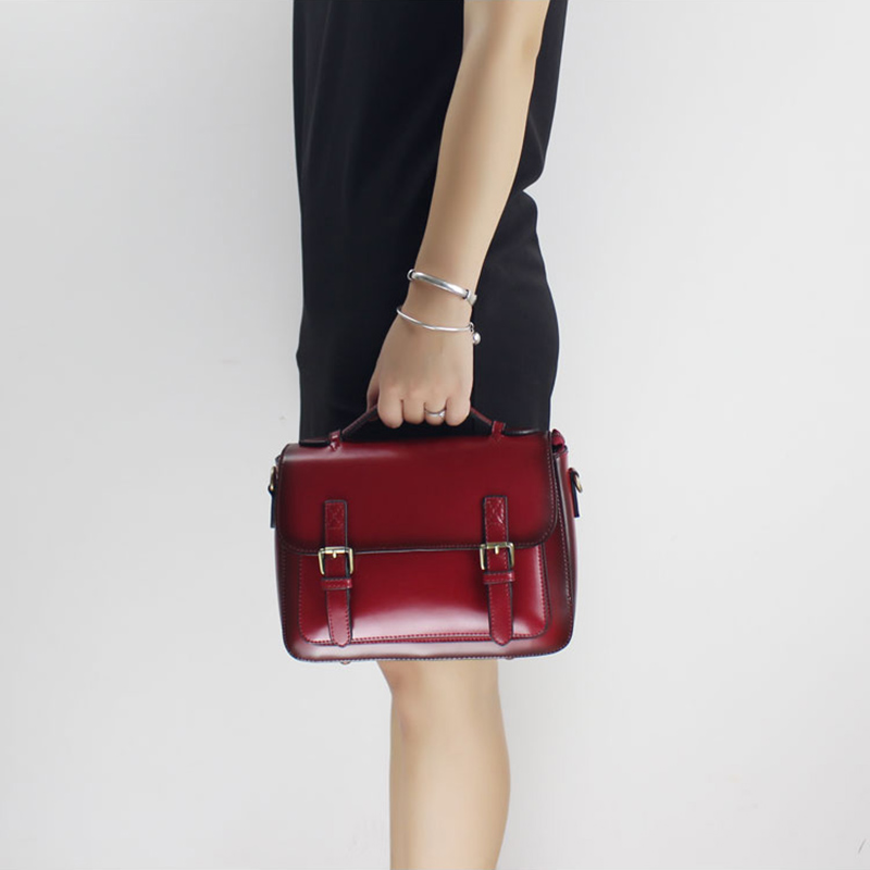 Women Handbag 2018 Original Cow Genuine Leather Handbag Classical Single Shoulder Bag Female Messenger Bag Institute Wind