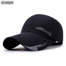 SILOQIN Adjustable Size Mens Extra Long Visor Cotton Baseball Caps Fashion Womens Ponytail Hip Hop Hat Tongue Cap Snapback